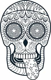 1000 Images About Skull Day Of The Dead Coloring On Pinterest Regarding Free Printable Sugar