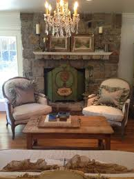 San Francisco Rustic Chic Living Room Shabby Style With Wooden Side Tables And End Satin Pillows