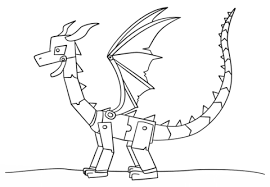 Click To See Printable Version Of Minecraft Ender Dragon Coloring Page