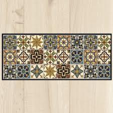 carpette de cuisine tapis cuisine carreaux vintage