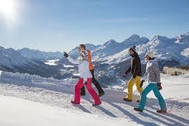 100 Muottas Muragl Winter Hiking Engadin St Moritz