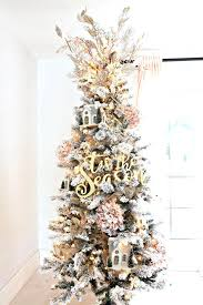 Flocked Christmas Tree How To Trim Out A With Pink Accents Pre Lit