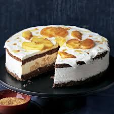 halbgefrorene apfel schoko torte
