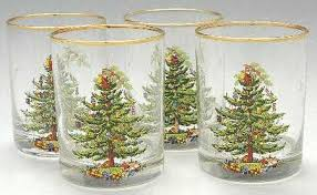 Spode Christmas Tree Highball Glasses by Spode Christmas Tree Green Trim At Replacements Ltd Page 20