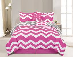 6 Piece Chevron Pink forter Set