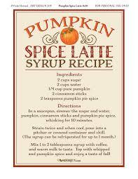 Ingredients For Pumpkin Pie Spice by Pumpkin Spice Latte Recipe Art Design Joy