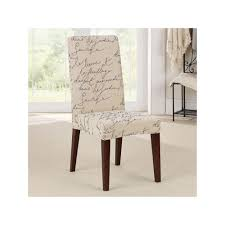Sure Fit Waverly Stretch Pen Pal Short Dining Room Chair Slipcover ... Parson Chair Slipcovers Design Homesfeed Fniture Decorating Interesting Walmart For Covers Ding Chairs Armchair Covers Set Beautiful Room Argos Pott Charming Habitat Why I Love My White Slipcovered House Full Of Summer Cisco Brothers Parsons Denim Cotton Feather Down Slip Cover Patterns Tufted Home Target Image Australia Counter Height Stool Kitchen Slipcover Elegant For Stylish Look