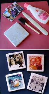 31 Make These Aged Photo Tile Coasters