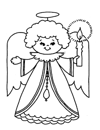 Kids Free Coloring Pages For Christmas Angel
