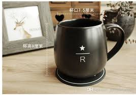 Classic Starbucks Reserve Cup Black Matte Carving R Letter Ceramic Coffee Mug 16OZ With Wooden Spoon
