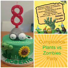 Cumpleaños Plantas Contra Zombies Plants Vs Zombies Party Un