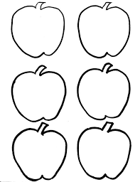 Six Apple Coloring Pages Printable For Kids