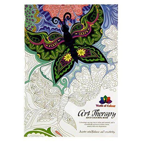 Premier Stationery World of Colour A4 Art Therapy Adult Colouring Book