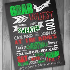 Ugly Sweater Christmas Party Invitations Template Valid Enchanting Invitation Free