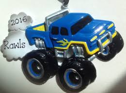 100 Blue Monster Truck Personalized Hummer Baby Boys First Etsy