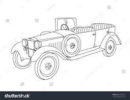 Coloring Page Old Vintage Car Stock Vector 690202267