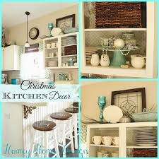 Christmas In The Kitchen Aqua Decor