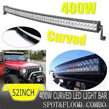 52/54 Inch 400W Combo Spot Flood LED Light Bar For Work Driving Boat ...