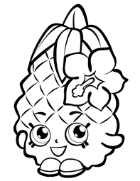 Coloring Pages Printable Shopkins Pineapple Crush Shopkin Page Free