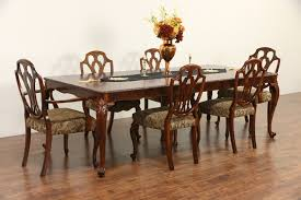 SOLD - Carved 1940's Vintage Dining Set, Burl Table & 2 Leaves, 6 ... A 1940s Vintage Fixer Upper For Firsttime Homebuyers Decor Extendable Solid Oak Table 4 X Queen Anne Chairs Sold Country French Ding Set Table Leaves 6 Duncan Fife Ding Room Set Dingroomsetduncanphyfe1940s9 Baker 7 Pieces Chairish Mahogany Room Luxury Antique And Duncan Phyfe Chairs Cottage Carved Oak 2 Amazoncom Winsome Wood 94386 Halo Back Stool Kitchen Bernhardt Fniture Modern