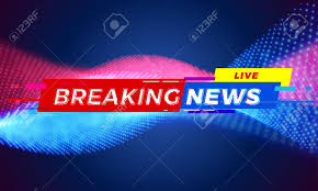 Breaking News Title Template For TV Screen Background Live Tag Bar Modern Red And