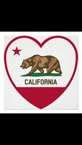 Vector Graphics Of Bear In Heart Shape Flag California Republic Drawing