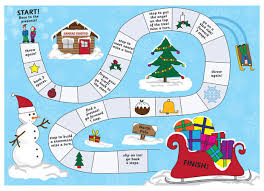 Christmas Board Game Include This Innovative Template Which Enhances The Counting Skills Of A Toddler Graphic Illustrations Are Included Whereas