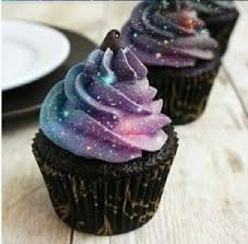 This recipe is for really yummy mint chocolate cupcakes unfortunately no galaxy frosting