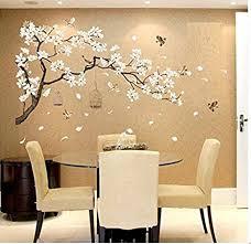 covpaw wandtattoo wandaufkleber pfirsichblüte kirschblüte pflaumenblüte blüte blumen vogel wandsticker wandbild bilder wohnzimmer schlafzimmer