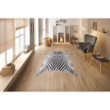 bruno banani teppich zebra tierfellförmig 6 mm höhe druckteppich in fellform zebra optik wohnzimmer