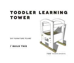 free woodworking plans to build a toddler learning tower the