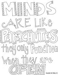 Learning Quote Coloring Pages