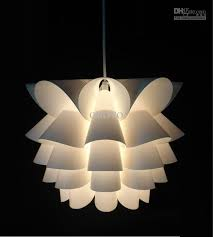 diy modern lotus plastic pendant l dining living room