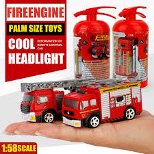 100 Mini Fire Truck Simulation Engine For Children Toy Rechargeable