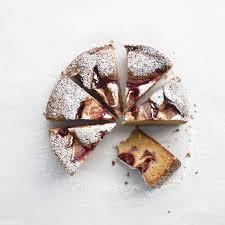 Open Face Plum Cake