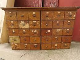 1800 s Apothecary Cabinet 30 Drawers General Store Grain Painted