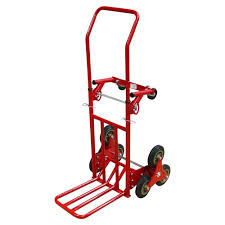 150KG HEAVY DUTY 6 Wheel Stair Climber Climbing Flat Bed Hand Truck ...