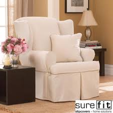 wing chair recliner slipcovers contrast cord duck wing chair slipcover overstock