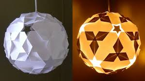 paper lantern l shades astounding origami shade gold