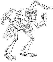 Vicious Grasshopper Boss In Bugs Life Coloring Pages