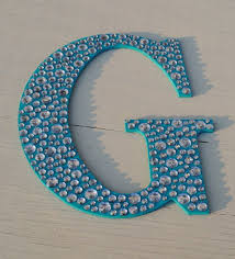 Sparkle 9 Turquoise Bling Decorative Wall Letters Girls Room Decor Nursery