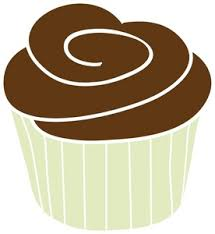 Chocolate Cupcake Clipart Image A chocolate cupcake in a green baking cup