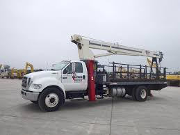 100 Service Truck With Crane For Sale 2005 D F750 XL Single Axle 6 Spd With Terex
