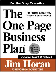 Amazon.com: The One Page Business Plan For The Busy Executive ...