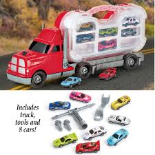 BoysTake-Apart Tool Truck And 8 Car Toys With Carrying Case: Amazon ...