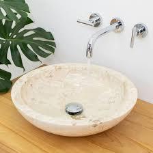 marmor waschbecken 45 cm creme