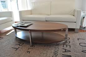 design couchtisch tisch o 111 nussbaum walnuss oval chrom carl svensson design impex