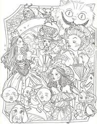 Pin By Grace Fonseca On Alice In Wonderland Coloring Book