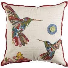 Pier 1 Imports Beaded Birds Pillow Polyvore