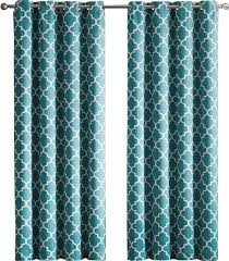 Geometric Pattern Grommet Curtains by Andover Mills Kuhlmann Lattice Geometric Blackout Thermal Grommet